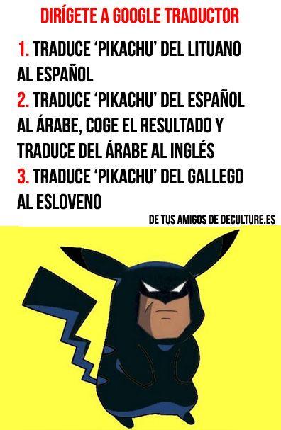 Pikachu y su complejo de Ditto en Google Traductor