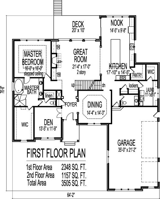 Tudor house plans stone four bedroom five bath 3 car garge for Four bedroom house plans with basement