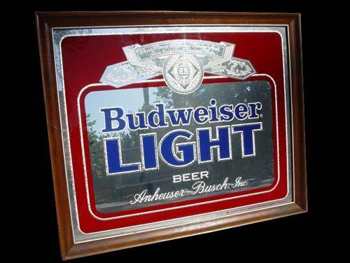 Budweiser Light Mancave Mirror M A N C A V E Pinterest