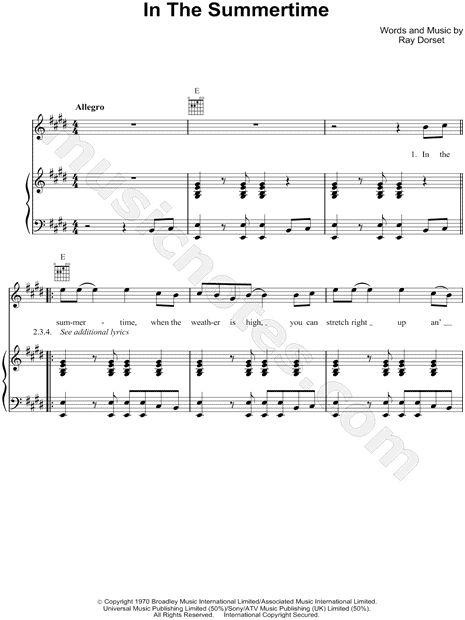 summertime trumpet sheet music pdf