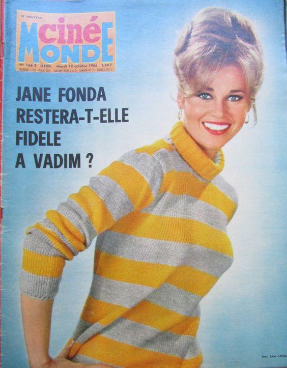 Cinema Jane Fonda Mastroianni Marie Dubois Bourvil Funes N° 1663 Cinemonde 1966…