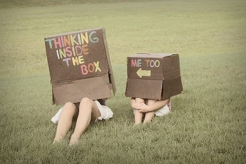 Thinking Inside The BOX #posters #fun #photography #box #cardboard