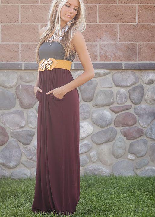 Maxi dress with pockets? Want!