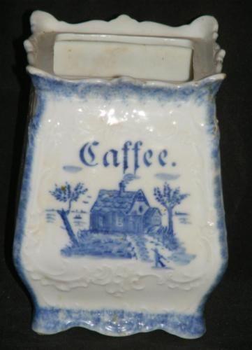 VORRATSDOSE KAFFEE Kaffeedose Porzellan gem. um 1900 | eBay