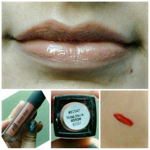 Este #Gloss me gusto mas que el anterior  #LipGloss #ElfCosmetics #MutedMauve #Lipstick #CrueltyFree