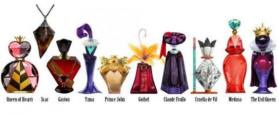 Frascos de Perfumes basados en los villanos de Disney (A)