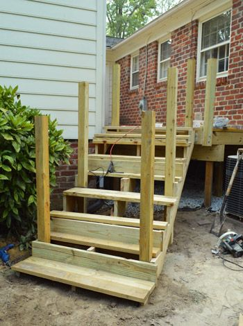 how to build low slope stairs from 2x10 lumber