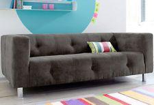 Sofa 3-Sitzer Federkern Luxus-Microfaser Couch UVP 369,- LIP
