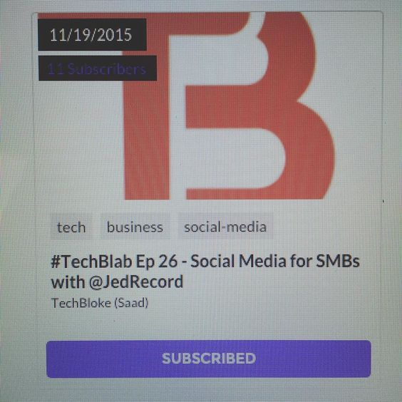 .@techblokedotcom hosting another #techblab on the 19th about social media for #smbs