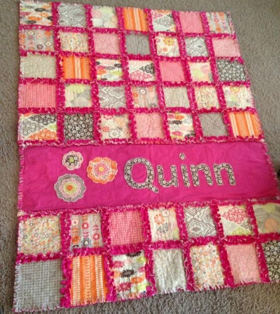 Rag quilt with minky fabric rag quilts are so cute and for Cute baby fabric