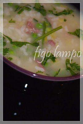 Sopa de arroz, ervilhas (e espinafres)