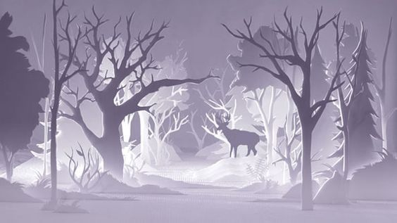 A short animated film directed by Alex Schulz.  I like how the movie starts out with the paper forest rising from the floor. Link via Behance Network. http://illusion.scene360.com/video/12287/the-paper-forest-2/