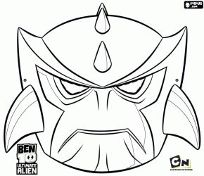Ben 10 Omniverse Omnitrix Coloring Pages