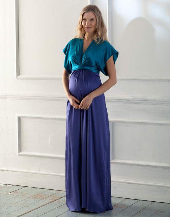 robe longue de cocktail pour femme enceinte seraphine idale pour les - Coloration Pour Femme Enceinte