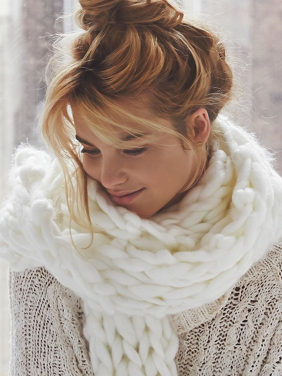 Free People Maggie Maye Chunky Knit Scarf at Free People Clothing Boutique: