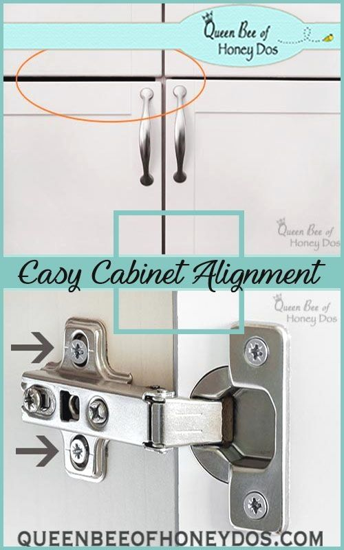 How To Align Cabinet Doors In Three Easy Steps Don T Live With Crooked Cabinet Doors See Home Improvement Contractors Home Improvement Projects Cabinet Doors