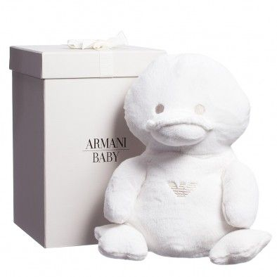 Armani Junior Large Soft Toy Duck in a Gift Box (35cm) at Childrensalon.com