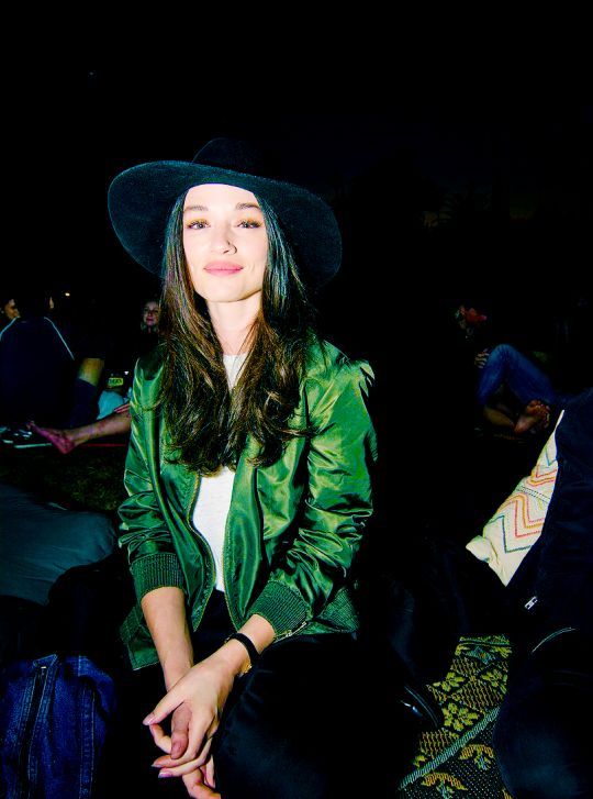 Crystal Reed attends Cinespia's screening of 'Poltergeist' held at Hollywood Forever in Hollywood, California - August 27, 2016