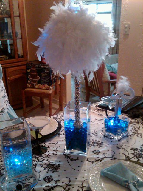 Feather tree centerpiece wedding ideas pinterest