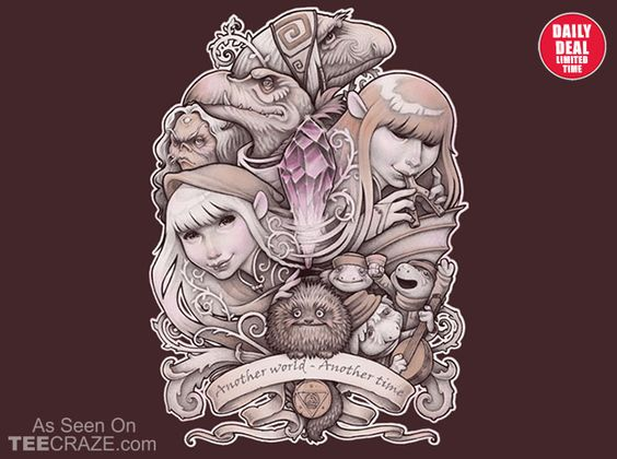 In Another World T-Shirt - http://teecraze.com/daily-deal-4/ -  Designed by MedusaD