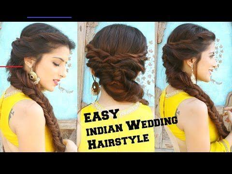 Wedding Hairstyle For Medium To Long Hair Fishtail Braid Hairstyle For Indian Wedding Occassions Wedding Hairstyle For Medium To Long Hair Fishtail Braid Ha