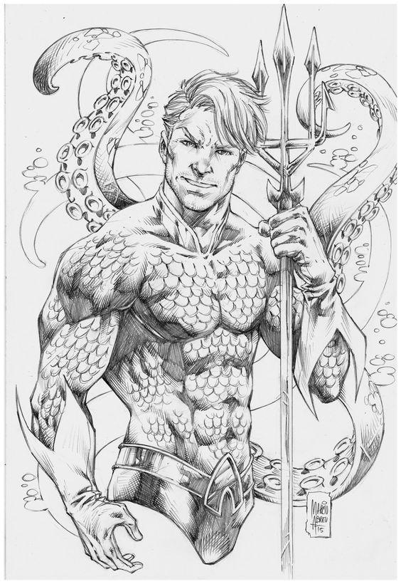 Aquaman Arthur Curry By Marcio Abreu Aquaman Desenho