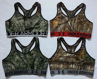 *NEW Under Armour Women Camo Sports Bra Top Gym Fitness Yoga Size XS S M L XL