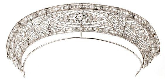 Edwardian Diamond Court Tiara 500x242 Magnificent Edwardian ...