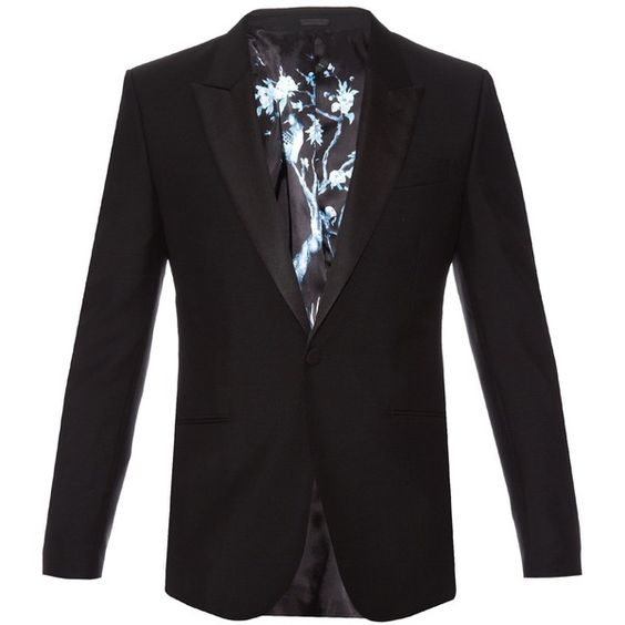 Alexander McQueen Single-breasted wool and mohair-blend blazer ($1,832) ❤ liked on Polyvore featuring men's fashion, men's clothing and men's sportcoats