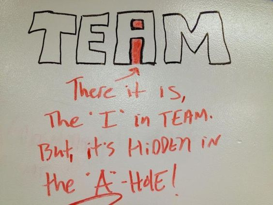 I couldn't resist! If you've ever been a part of a team you know just how funny this really is!