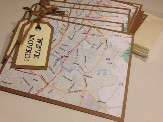 We've Moved Cards We Moved New Address New by SavorEachSecond