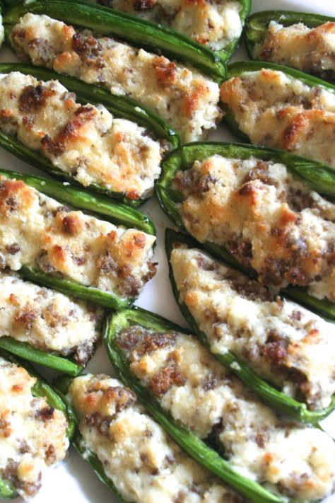 Stuffed Jalapenos W Sausage Parmesan Recipe With Images Stuffed Peppers Sausage Parmesan Appetizer Recipes