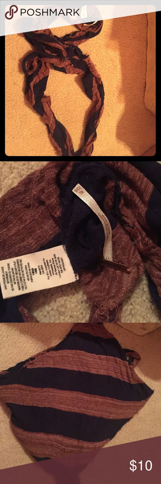 Free People scarf Navy blue and like a burnt orangey/reddish color Free People Accessories Scarves & Wraps