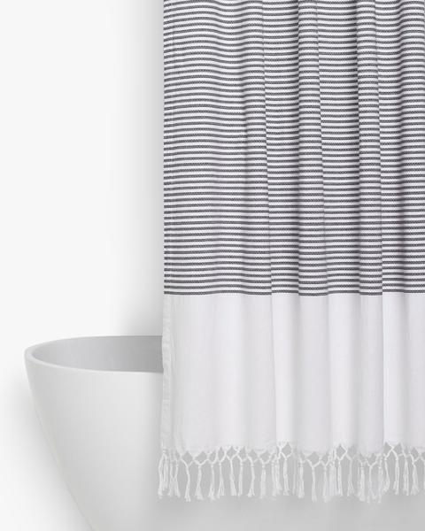 Turkish Shower Curtain Parachute Home In 2020 Stylish Shower Curtain Neutral Shower Curtains Black Shower Curtains