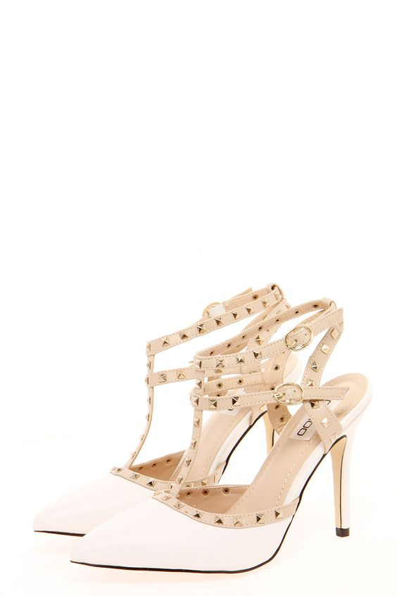 Ava Studded Strappy Pointed Heels// | SHOES!!! | Pinterest | Obuv