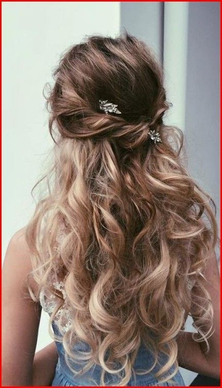 Cute Prom Hairstyle For Shoulder Length Hair Wedding Hairstyles For Long Hair Curly Hair Styles Hair Styles