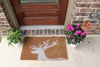 DIY Christmas Doormat. @ChicLittleThings.blogspot.com