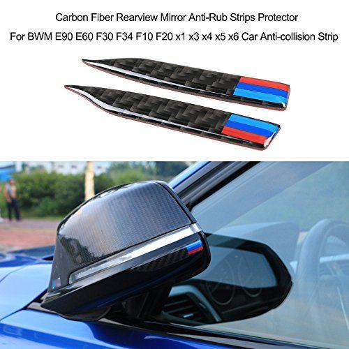 Kkmoon Carbon Fiber Ruckspiegel Anti Rub Streifen Schutz Fur Bmw E90 E60 F30 F34 F10 F20 X 1 X3 X 4 X5 X 6 Auto Antikollisionsst In 2020 Bmw Ruckspiegel Auto Aufkleber