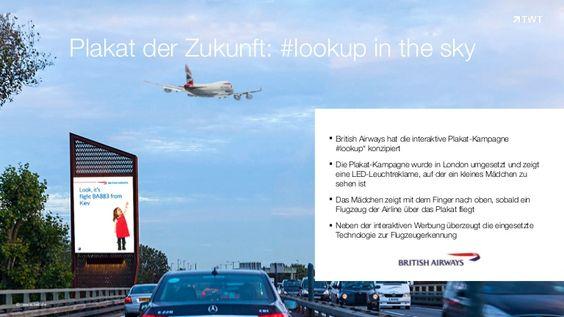 British Airways hat die interaktive #Plakat-Kampagne #lookup konzipiert