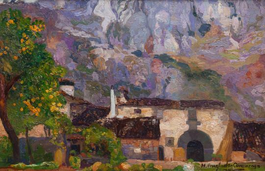 Majorcan House    -   Hermenegildo Anglada Camarasa  1925  Catalan  1871-1959  Oil on canvas ,   79 x 99 cm.