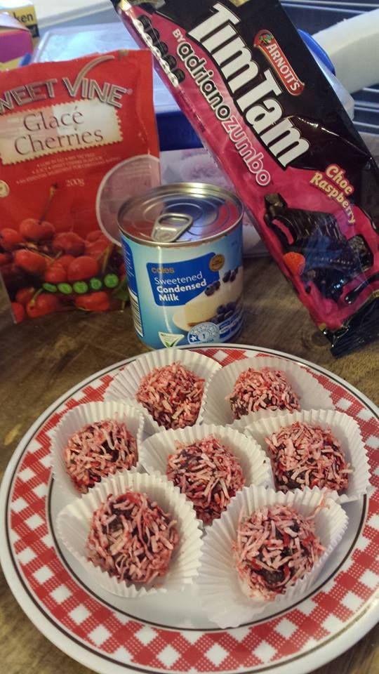 Choc Cherry Bites Recipe Chocolate Ripple Biscuits Glace Cherries Cherry