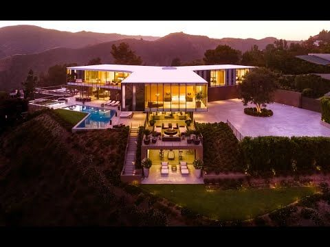 Award Winning Modern Hilltop House In Bel Air, Los Angeles - YouTube