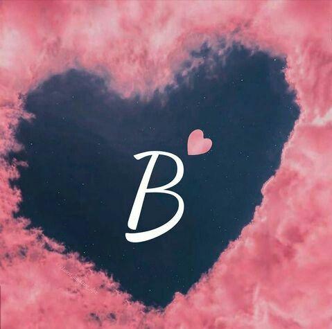 Alphabet B Wid Heart In 2021 Letter B Graffiti Words Lettering Mobile wallpapers love name b