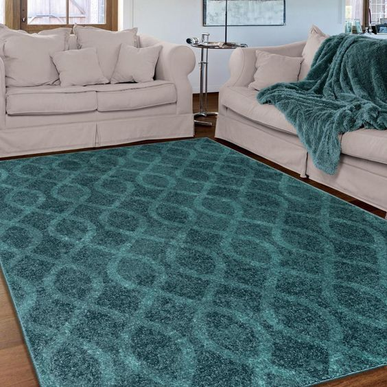 Carolina Weavers Brighton Collection Coil Blue Area Rug By