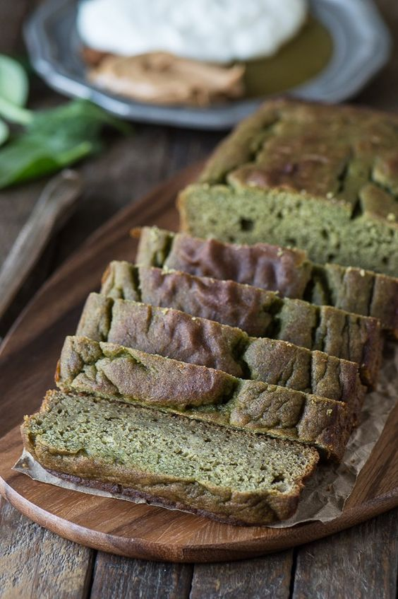 This green monster bread recipe is a healthy quick bread with no sugar, oil, or butter. Plus it has a sneaky green ingredient!:
