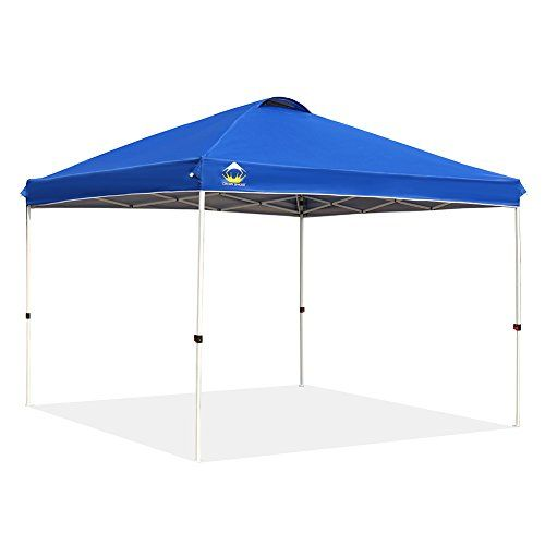 Crown Shades Patented 10ft X 10ft Outdoor Pop Up Portable Shade Instant Folding Canopy With Carry Bag Blue Portable Canopy Canopy Tent Outdoor Portable Shade