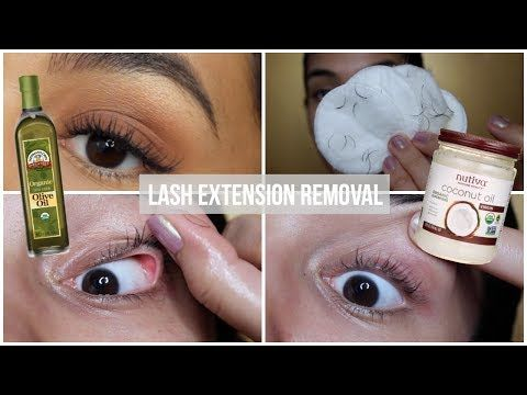 Removing My Lash Extensions Coconut Oil Vs Olive Oil Youtube Eyelash Extensions Remove Lash Extensions Eyelash Extension Removal