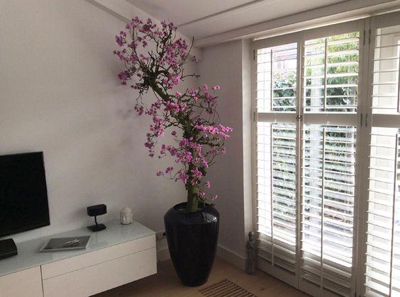 Kunst bloesem boom bloesembomen magnolia boom for Interieur beplanting