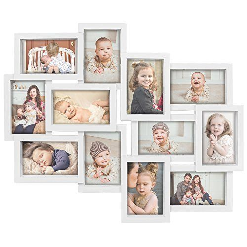 Hello Laura Designs Family Rules Dimensional Collage White Picture Frame 12 Option 6 4x6 Amp 6 4x4 Whte White Picture Frames Photo Wall Display White Picture