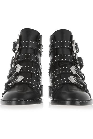 Givenchy Elegant studded ankle boots in black leather @ http://www ...